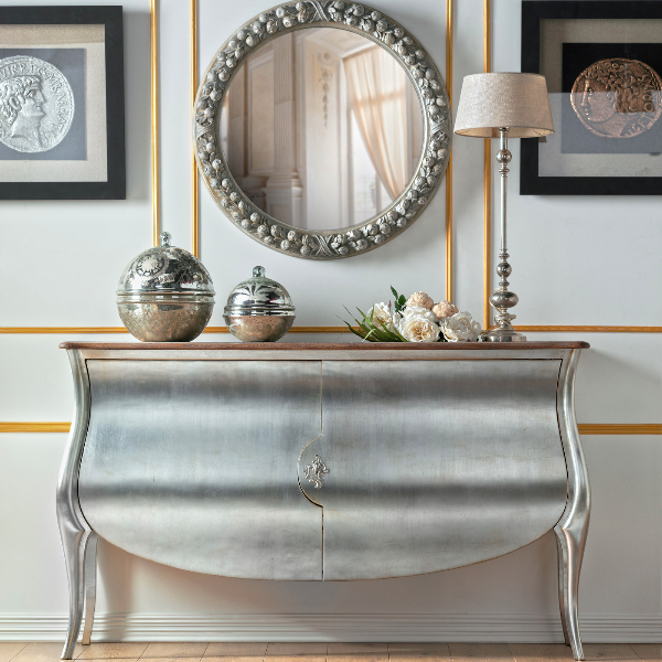 Bespoke Luxury Furniture London Silver Leaf Sideboard